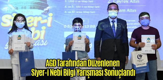 AGD Tarafından Düzenlenen Siyer-i Nebi Bilgi Yarışması Sonuçlandı