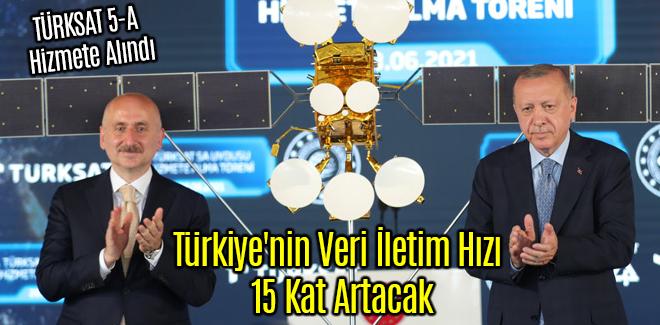 TÜRKSAT 5-A Türkiye'nin Veri İletim Hızı 15 Kat Artacak