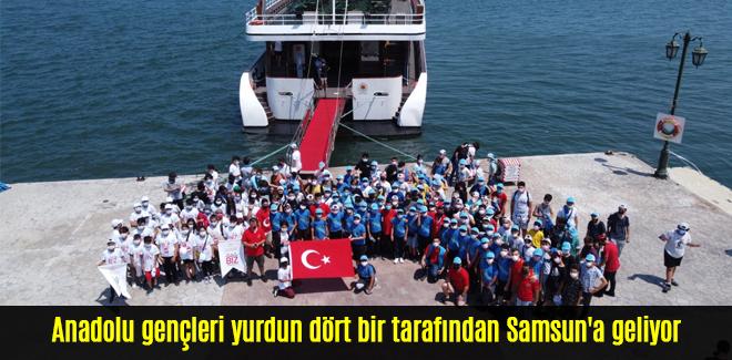 Anadolu gençleri yurdun dört bir tarafından Samsun'a geliyor