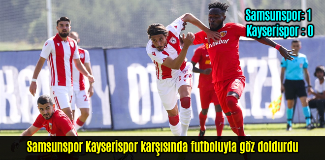 Samsunspor 1 Kayserispor 0