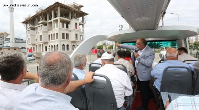 Başkan Sandıkçı muhtarlara projelerini gezdirdi